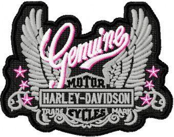 Genuine Harley Davidson Nautical Ladies machine embroidery design