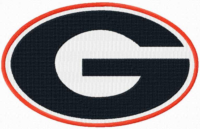 Georgia Bulldogs logo embroidery design