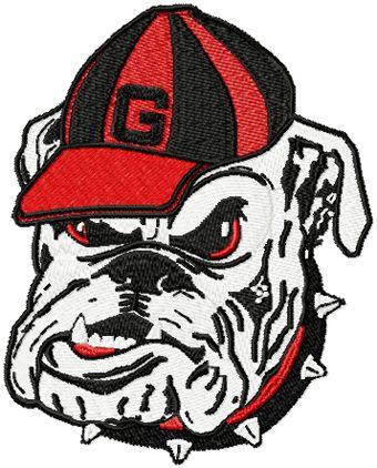 Georgia Bulldogs Primary Logo machine embroidery design