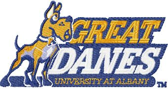 Albany Great Danes University at Albany logo machine embroidery design