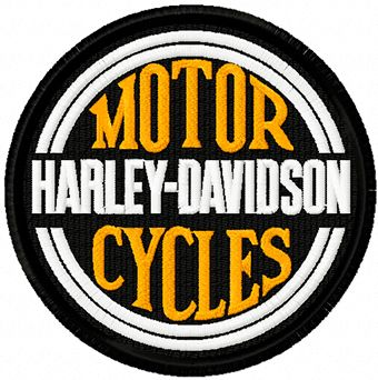 Harley Davidson patch logo machine embroidery design