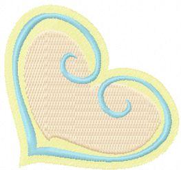 Heart free machine embroidery design