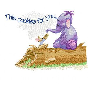 Heffalump and Roo embroidery design