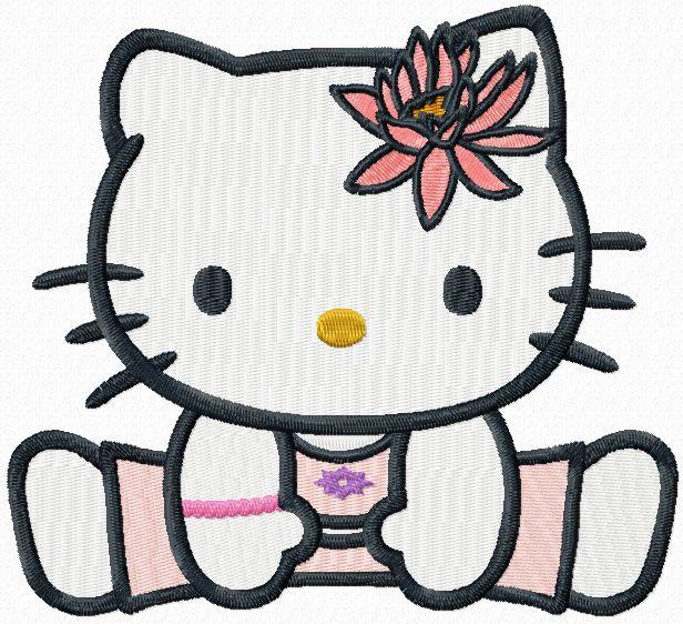 Hello Kitty u-shu embroidery design