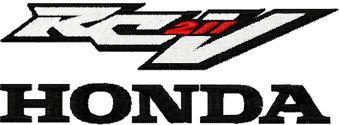 Honda RC 211v machine embroidery design