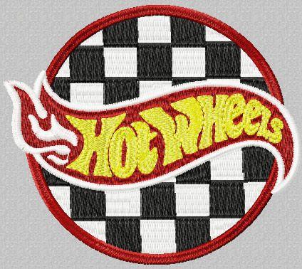 Hot Wheels Racing Logo machine embroidery design