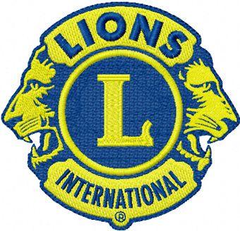 Lions Clubs International logo machine embroidery design