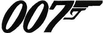James Bond 007 logo machine embroidery design