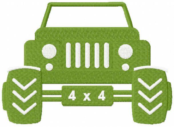 Jeep 4 x 4 embroidery design