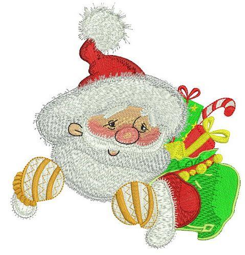 Kind Santa embroidery design 2