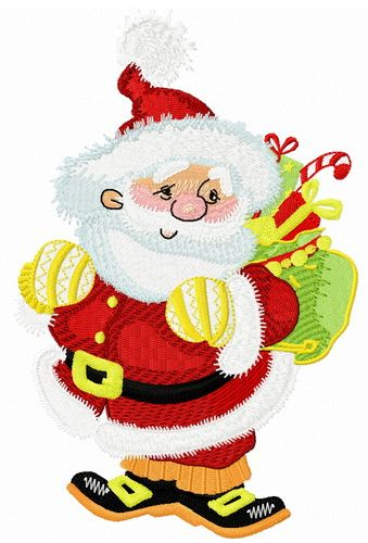 Kind Santa embroidery design