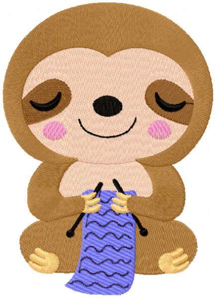 Koala knitter embroidery design