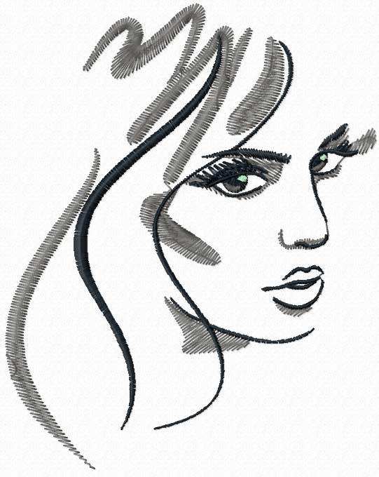 My beautiful lady free machine embroidery design