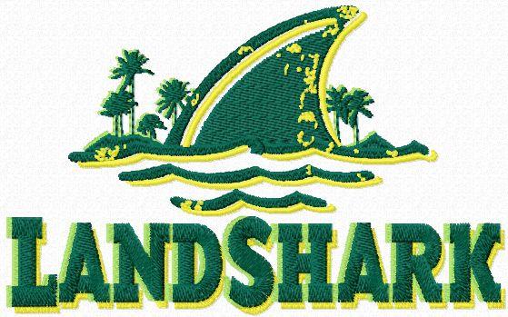 LandShark Lager logo machine embroidery design