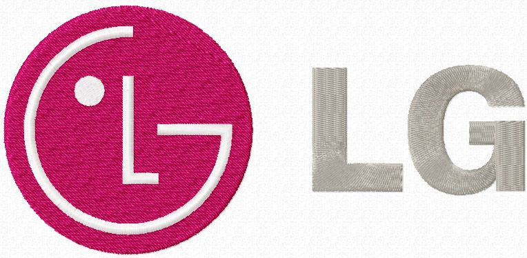LG Electronics logo machine embroidery design