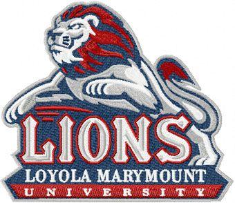 Loyola Marymount Lions logo machine embroidery design