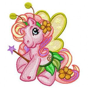 My Little Pony Fairy machine embroidery design