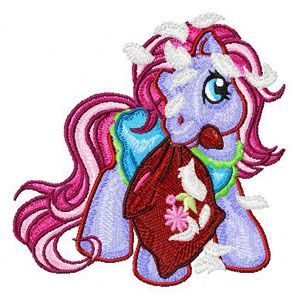 My Little Pony with pillow embroidery design