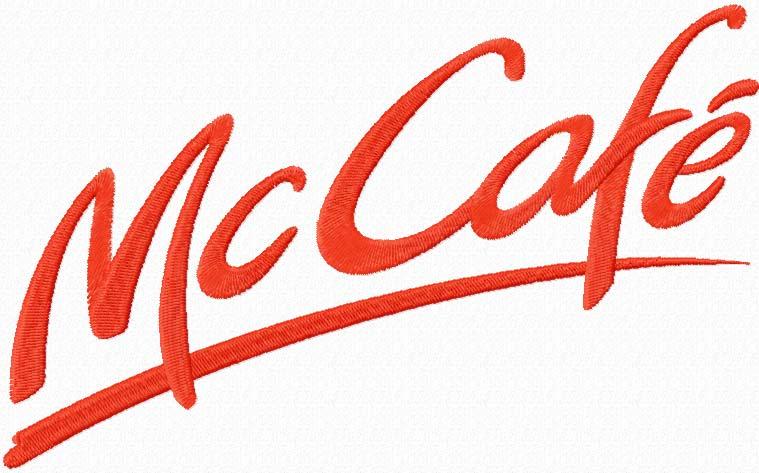 McCaf? logo machine embroidery design