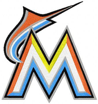 Miami Marlins Logo machine embroidery design