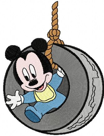 Mickey Mouse play embroidery design