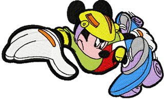Mickey Mouse Scooter machine embroidery design