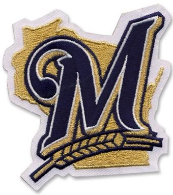 Milwaukee Brewers patch logo machine embroidery design
