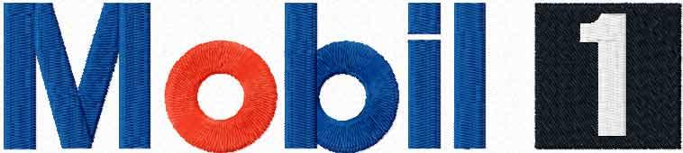 Mobil 1 logo machine embroidery design