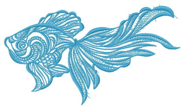 Mosaic fish embroidery design 8