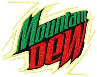 Mountain Dew machine embroidery design