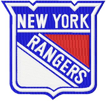 New York Rangers logo machine embroidery design