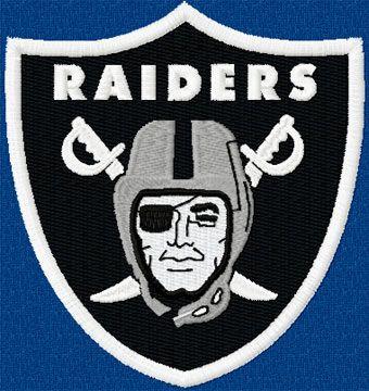 Oakland Raiders logo machine embroidery design