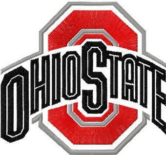 Ohio State Buckeyes Alternate Logo machine embroidery design