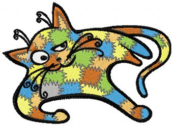 Patches Cat game embroidery design