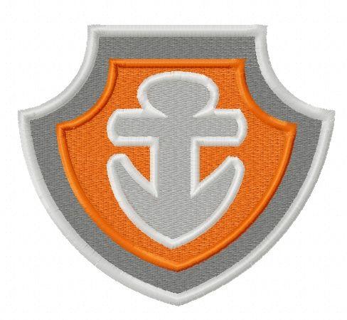 Paw Patrol shield embroidery design 3