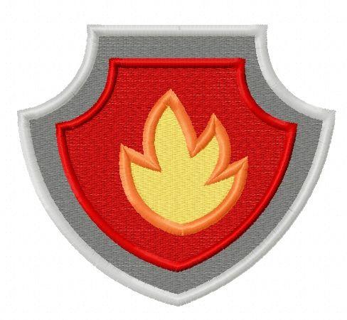 Paw Patrol shield embroidery design 4
