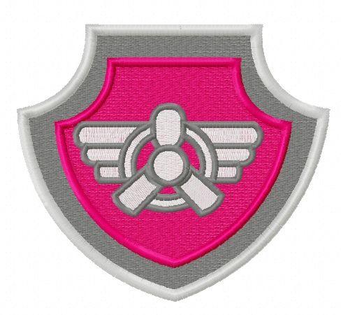 Paw Patrol shield embroidery design 5