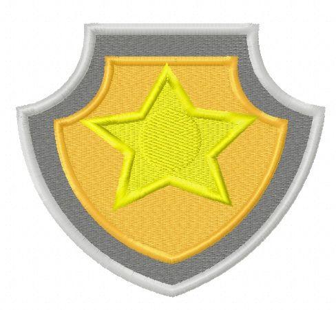 Paw Patrol shield embroidery design 6