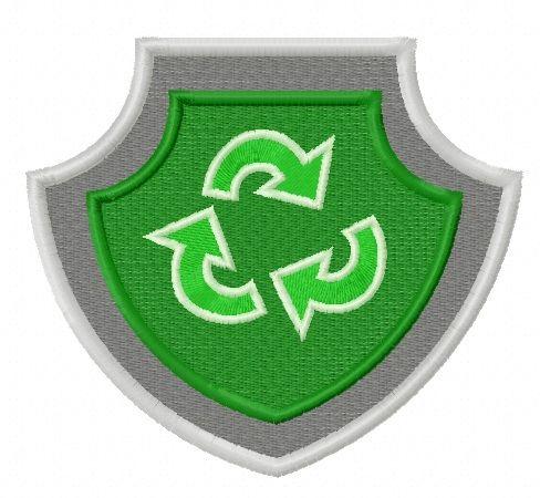Paw Patrol shield embroidery design