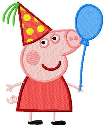 Peppa Pig Fiesta embroidery design