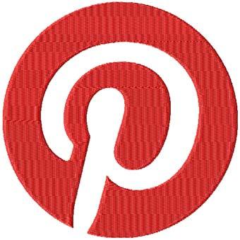 Pinterest Logo machine embroidery design