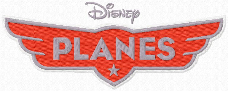 Disney Planes logo machine embroidery design