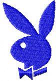 Playboy logo 2 machine embroidery design