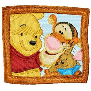 Winnie Pooh, Tigger, Roo machine embroidery design