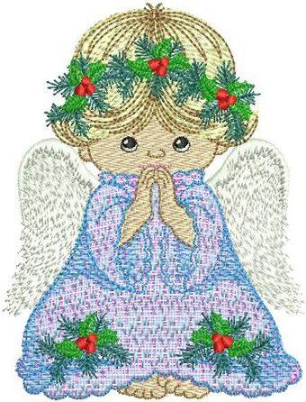 Praying Angel embroidery design