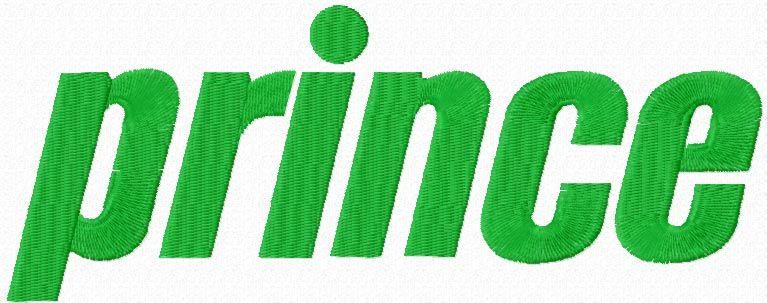 Prince Sports logo machine embroidery design