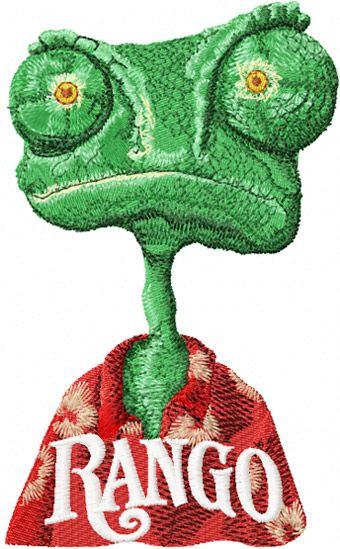 Chameleon Rango embroidery design