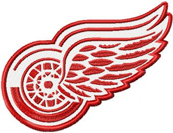 Detroit Red Wings Logo machine embroidery design