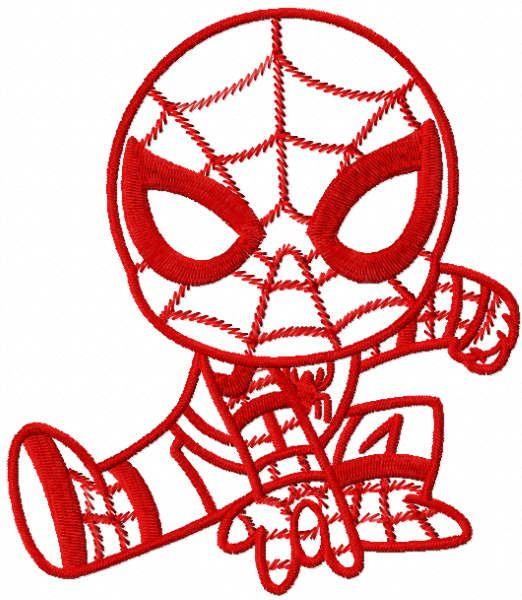 Red Spider boy embroidery design