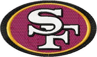 San Francisco 49ers machine embroidery design
